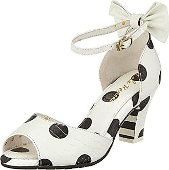 AVA, Zapatos de Tacón con Punta Abierta para Mujer, Marfil (Cream 77), 37 EU Lola Ramona