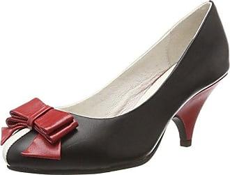 Elsa, Zapatos de Tacón con Punta Cerrada para Mujer, Rojo (Red/Cream 4), 38 EU Lola Ramona