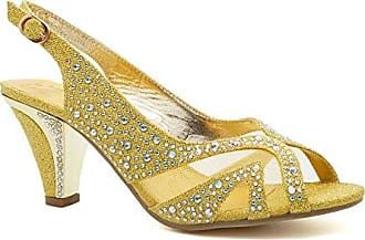 Damen Peep Toes, gold - gold - Größe: 39 London Footwear