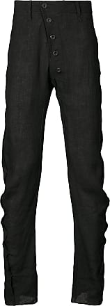 ruched sides tie cuff trousers - Black Lost And Found Rooms NVxdtno