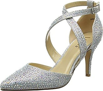 Star, Zapatos con Plataforma para Mujer, Plateado (Silver/Diamante SLV), 37 EU Lotus