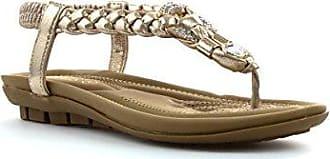 Lotus Öffnen Sie zurück Sandale im Gold mit Zopf für Frauen durch Größe 3 UK/35.5 EU - Mehrfarbig tNYMuS