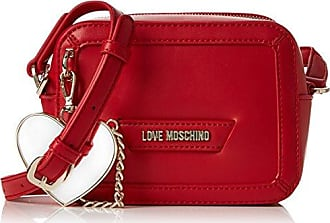 Borsa Fabric Rosso, Womens Cross-Body Bag, Rot (Red), 17x28x5 cm (B x H T) Love Moschino