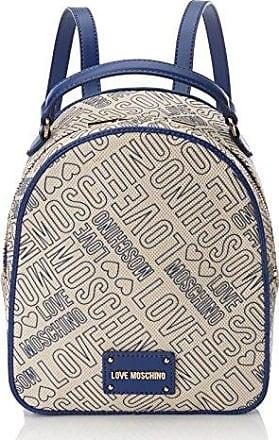 Borsa Glitters Pu Argento, Womens Backpack Handbag, Silver, 15x35x45 cm (B x H T) Love Moschino