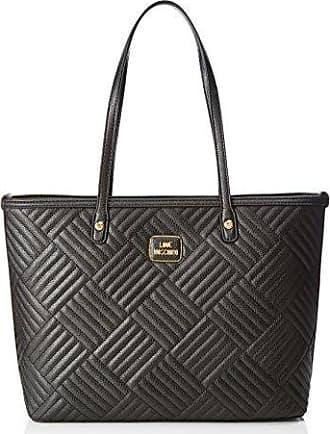 Moschino Borsa Vitello Pebble Nero, Sacs portés épaule femme, (Black), 9x25x36 cm (B x H T)