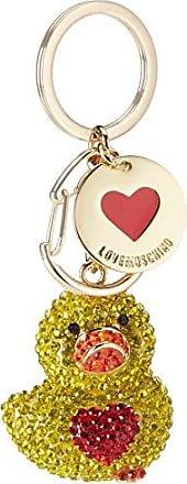 P.chiavi Calf Pu Multicolor Girl B, Womens Keyring, Mehrfarbig (Gold/blue), 1x1x1 cm (wxhxd) Love Moschino