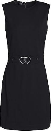 Love Moschino Woman Belted Ponte Mini Dress Black Size 40 Love Moschino j3eZ8ETydq