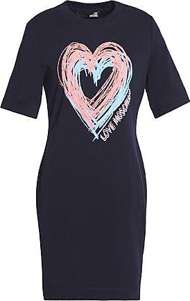 Love Moschino Woman Embroidered Stretch Cotton-jersey Mini Dress White Size 42 Love Moschino lmiqJhV