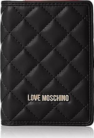 Portafogli Nappa Pu Trap.nero, Womens Clutch, Schwarz (Black), 10x17x4 cm (wxhxd) Love Moschino