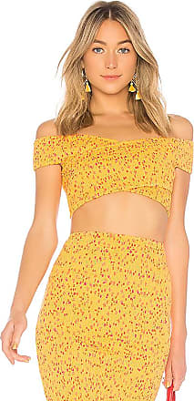 Viv Tie Crop Top in Yellow. - size S (also in L,M,XL,XS,XXS) Lovers + Friends