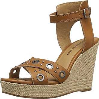 Lucky Brand Jemya Damen US 7.5 Braun Keilabsätze Sandale EADBLooG