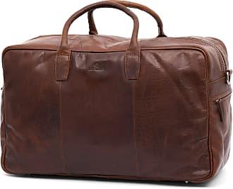 Montreal Tan & Black Leather Travel Bag Lucl F89kRjele