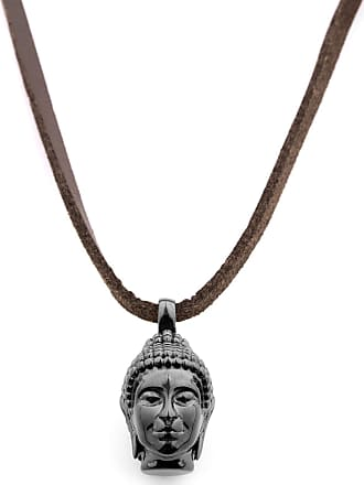 Gold Tone Buddha Leather Necklace Lucl KVUPSp7LQy