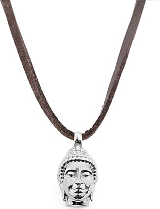 Gold Tone Buddha Leather Necklace Lucl xjB1J
