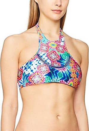 Luli Fama Reversible Zig Zag KN.Cut Out Triangle Top, Haut de Maillot de Bain Femme, Multicolore (Multicolor), Taille Fabricant: XSML