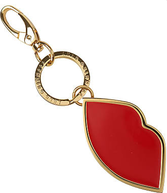 Lulu Guinness Key Chain for Women, Key Ring, Silver, perspex, 2017, One size