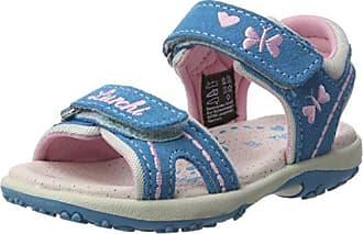 Lurchi »Kris« Sandale, mit praktischer Lasche, blau, blau-neongelb