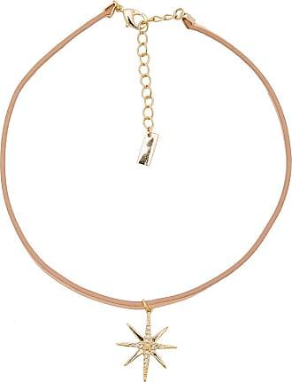 Luv AJ Leather Wrap Charm Choker in Metallic Gold 5tFGlC