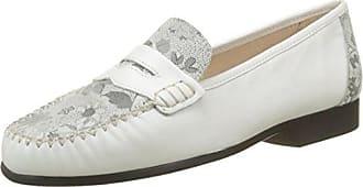 Mocasines de Cuero Mujer, Blanco (Blanco (Blanc Optique)), 40 EU Luxat