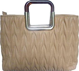 Frisch LYDC Damen Designer Gepolsterte Kunstleder Crossbody Schultertasche Gold Griff -- Beige LYDC London ZG33l9IHko