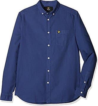 SS Oxford Shirt, Camisa Casual para Hombre, Azul (Stonewash Blue), Small Lyle & Scott