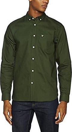 Oxford Shirt, Camisa Casual para Hombre, Verde (Leaf Green Z262), Medium Lyle & Scott