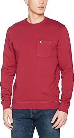 Lightweight Raglan Sweatshirt, Sudadera para Hombre, Rojo (Tomato Red), X-Large Lyle & Scott
