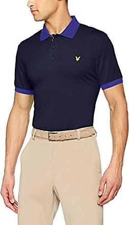 Kinloch Microstripe Polo Shirt, Polo Hombre, Armada (Navy/Cobalt), Medium Lyle & Scott