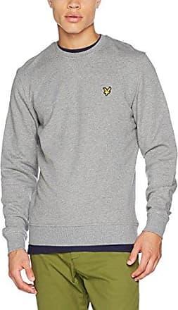 Lyle & Scott Crew Neck Sweatshirt, Sweat-Shirt Homme, (Mid Grey Marl T28), XS