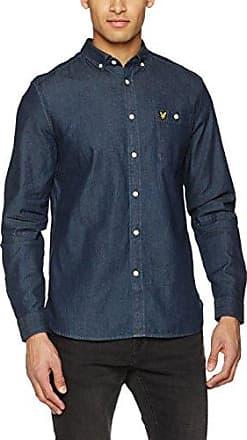 Denim, Camisa para Hombre, Azul (Dark Indigo Z121), Small Lyle & Scott