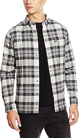 Flannel, Camisa para Hombre, Multicolor (Charcoal Marl 398), X-Large Lyle & Scott