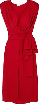 Pozallo Ruffled Silk Midi Dress - Navy Magda Butrym H56l5C