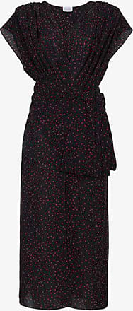 Pozallo Ruffled Silk Midi Dress - Navy Magda Butrym Fyy9C78Fk