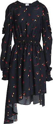 Free Shipping From China Pozallo Ruffled Silk Midi Dress - Navy Magda Butrym Best For Sale Outlet Locations For Sale Clearance Low Price RHZegbn1Ui