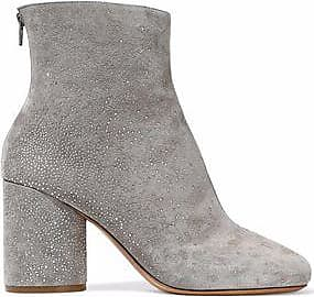 Maison Margiela Woman Crystal-embellished Suede Ankle Boots Size 41 hugobvUi