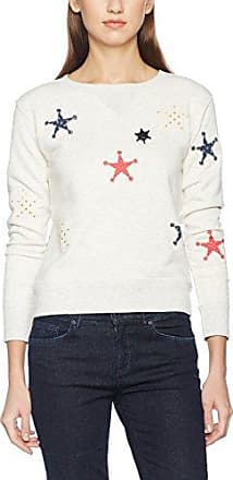 Scotch&Soda Maison Basic with Mini All-Over Print, Sweat-Shirt Femme, (Combo A 17), X-Large