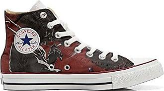 Converse All Star Personalisierte Schuhe (Custom Produkt) Route 66 Black - Size EU32 Mys XwHa7G