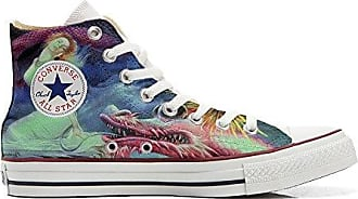 Converse All Star Cutomized - Personalisierte Schuhe (Handwerk Produkt) Pfau - Size EU 43 Mys zlIC5t