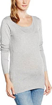 Noppies tee LS Henna, Camiseta de Manga Larga Premamá para Mujer, Multicolor (Anthracite Melange C247), 42 (Talla del Fabricante: L)