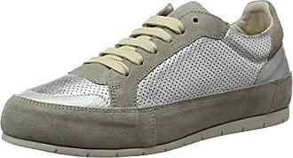 MANASDelfi - Zapatillas Mujer, Color Plateado, Talla 35