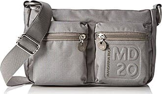 Damen MD20 Tracolla Grey Umhängetaschen, Grau (Grey 007), 36x15x30 cm Mandarina Duck