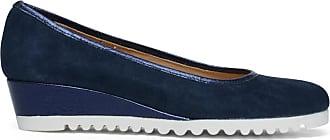2018 Online-Verkauf Dunkelblaue Loafer mit Keilabsatz (37 Erschwinglicher Günstiger Preis Freies Verschiffen Finden Große Geschäft Zum Verkauf Online-Shopping Günstigen Preis e00hueF1