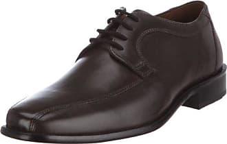 Manz Zapatos de Cordones de Piel Para Hombre Negro Negro, Color Negro, Talla 47