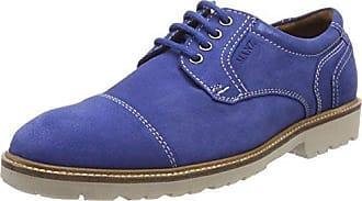 Manz Firenze, Zapatos de Cordones Derby para Hombre, Blau (Atoll), 42 EU