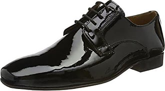 Mali - Zapatos de cordones de cuero para hombre, Schwarz 001, 46 EU (11 Herren UK) Manz