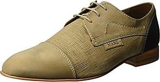 Manz Cremona, Zapatos de Cordones Oxford para Hombre, Beige (Beige/Hazelnut 531), 46 EU