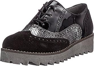 Ganter Sensitiv Karin-K, Zapatos de Cordones Derby para Mujer, Negro (Schwarz 0100), 37 EU
