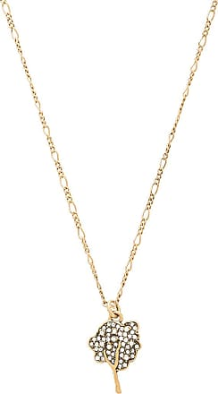 Marc Jacobs Charms Fan Mask Necklace in Metallic Gold nsLbN0j