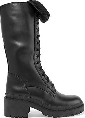 Cheap Wholesale Marc By Marc Jacobs Woman Leigh Shearling-trimmed Leather Boots Black Size 35.5 Marc Jacobs From China Low Shipping Fee Many Styles TuAzY
