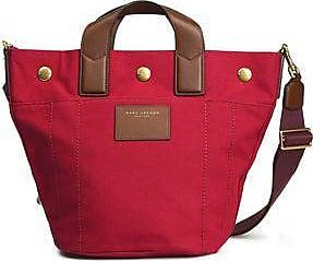 Marc Jacobs Woman Leather-trimmed Canvas Shoulder Bag Claret Size Purchase For Sale 6cJEp